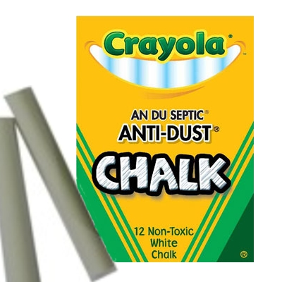 200279-White Chalkboard Chalk (12 pack)