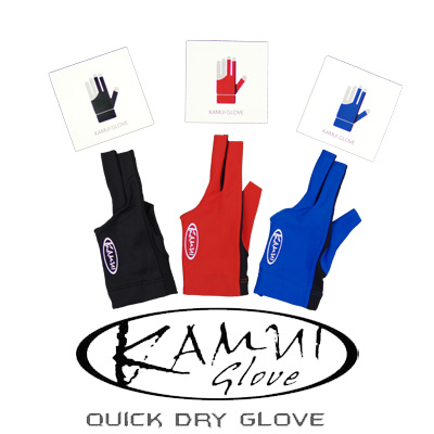 200480-Kamui Quick Dry Glove - Red, Blue, Black