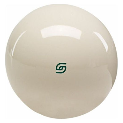 210037-Aramith Magnetic Cue Ball - 2 1/4'' - Green Logo