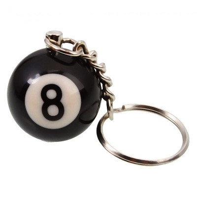 310095- #8 Pool Ball Keychain