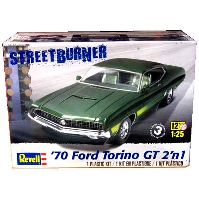 383147-'70 Ford Torino GT 2 'n 1 Plastic Model Kit