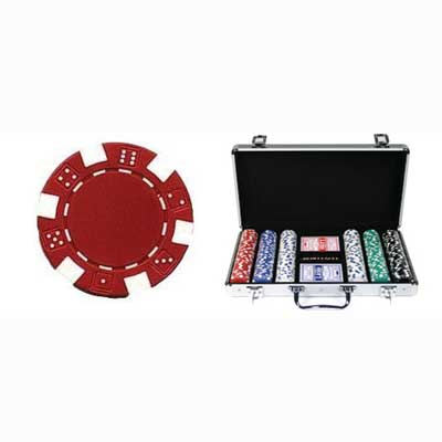 610075-300 Piece 11.5 Gram Composite Dice Poker Chip Set