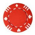 610151-Roll of 50 13.5 Gram Single Suited Red Poker Chips