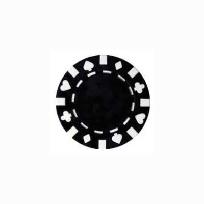 610159-Roll of 50 13.5 Gram Double Suited Black Poker Chips