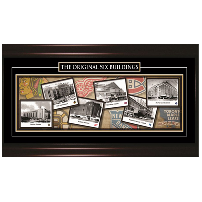 650017-Original 6 Hockey Arena's Framed Print