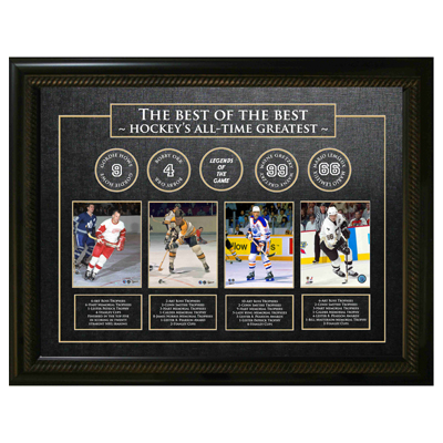 650120-Best of the Best Framed - Gordie Howe, Bobby Orr, Wayne Gretzky, Mario Lemieux