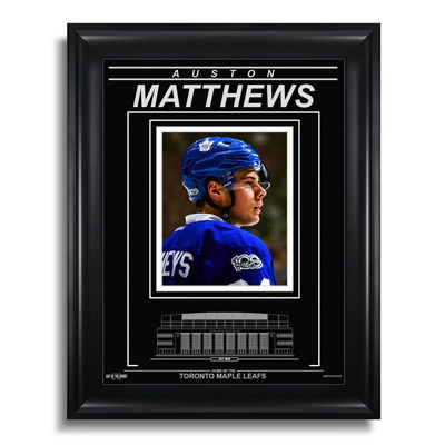 650211-Auston Matthews Toronto Maple Leafs Air Canada Centre - Archival Etched Glass