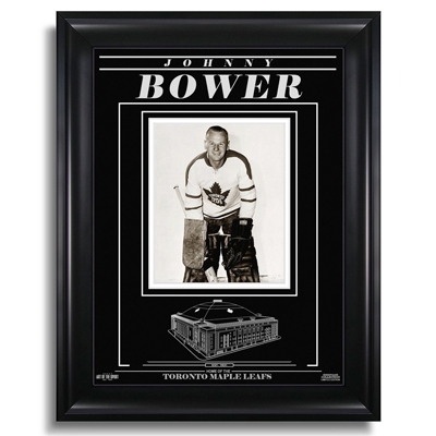 650217-Johnny Bower Toronto Maple Leafs Engraved Framed Photo - Still