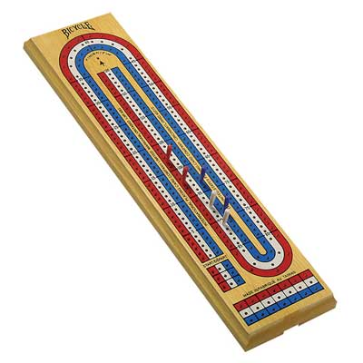 720027-3 Lane Colour Cribbage Game