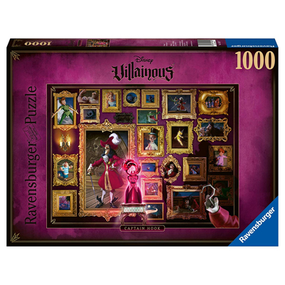770170-Ravensburger Disney Villains Captain Hook 1000 Piece Puzzle