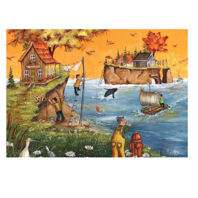 778920-Trefl Canadian artist Collection: Autumn in Gaspé by Christine Genest - 500 Large Piece Puzzle (580390)