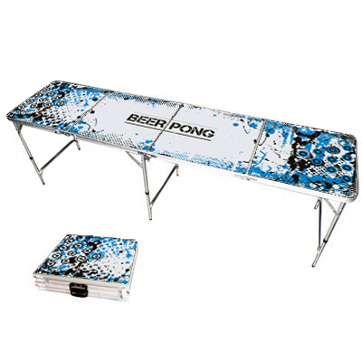 840035-8ft Graffiti Splash Beer Pong Table