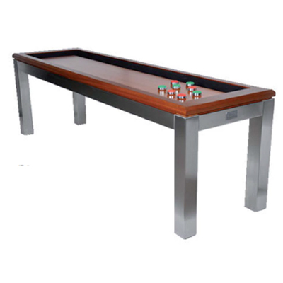 840865-La Condo 14ft Shuffleboard Table - Stainless Steel
